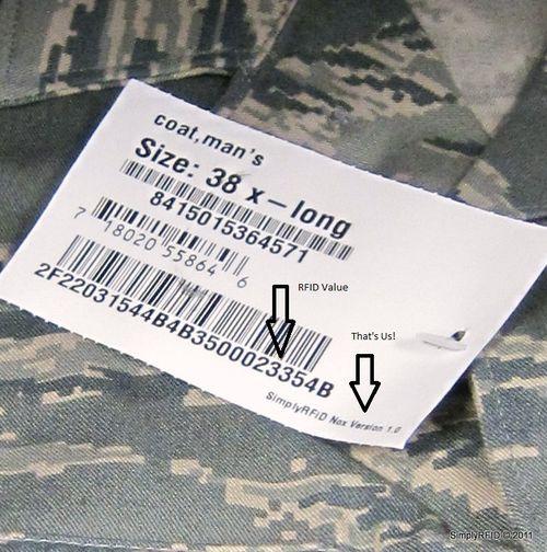 Rfid Tag on Clothes Rfid Tag Close up